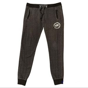 Parasuco Heather Grey Joggers Black Waistband and Cuffs Large